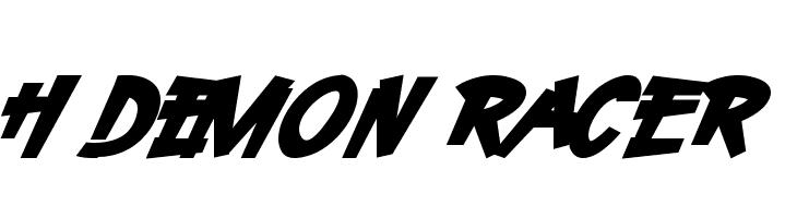 H74 Demon Racer  baixar fontes gratis