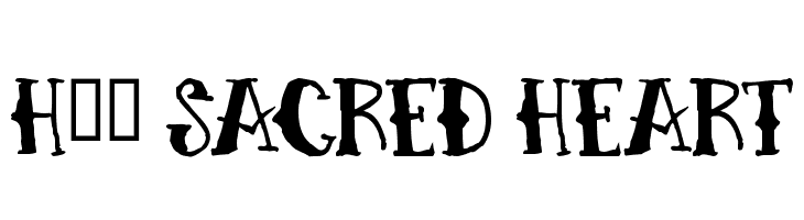 H74 Sacred Heart  Free Fonts Download
