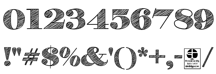 H&B Sketch Demo Font OTHER CHARS