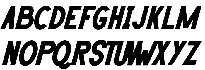 HANDA Bold Italic Font UPPERCASE