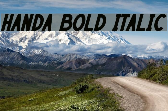 HANDA Bold Italic Font examples