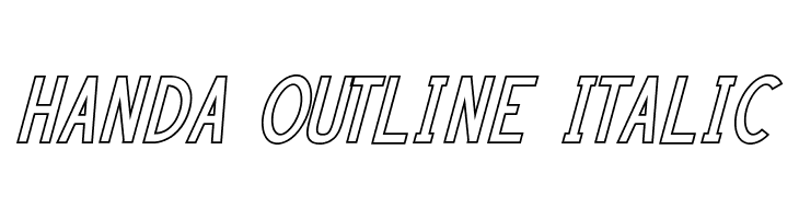 HANDA OUTLINE Italic  Free Fonts Download