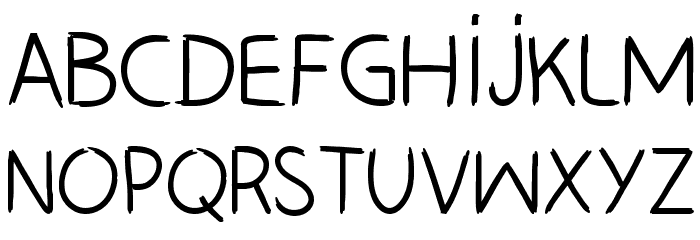 HAND_LEFT_CRE Font LOWERCASE