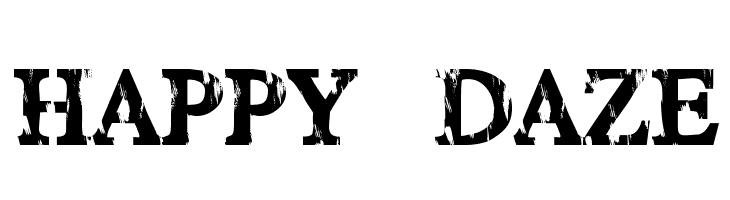 HAPPY DAZE  Скачать бесплатные шрифты