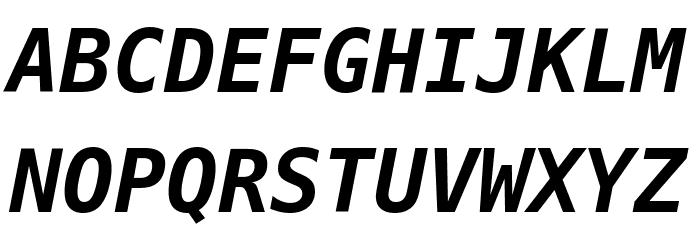 Hack Bold Oblique Font UPPERCASE