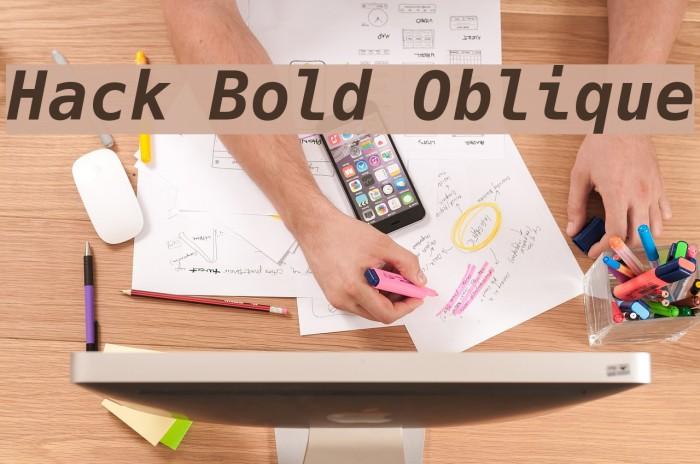 Hack Bold Oblique Font examples