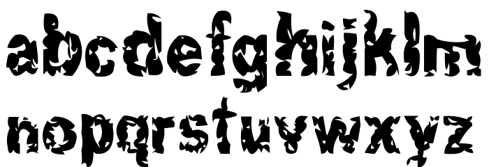 Hacknslash Font LOWERCASE