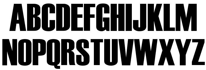 Haettenschweiler Font UPPERCASE