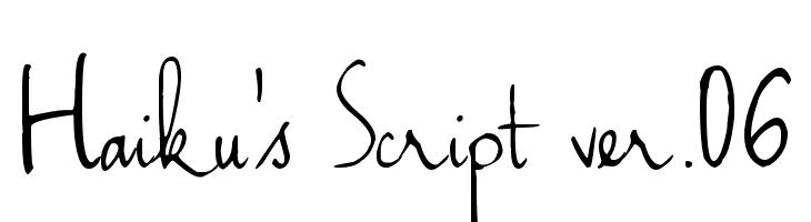 Haiku's Script ver.06  Free Fonts Download