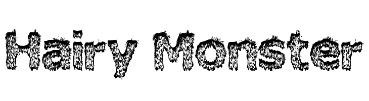 Hairy Monster  Free Fonts Download