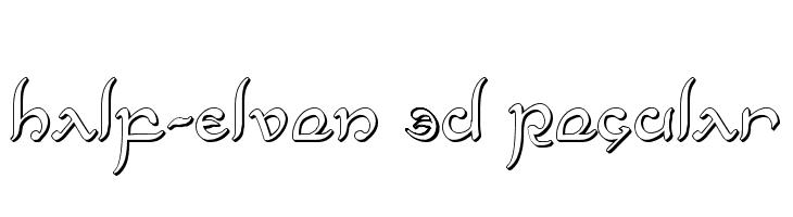 Half-Elven 3D Regular  Free Fonts Download