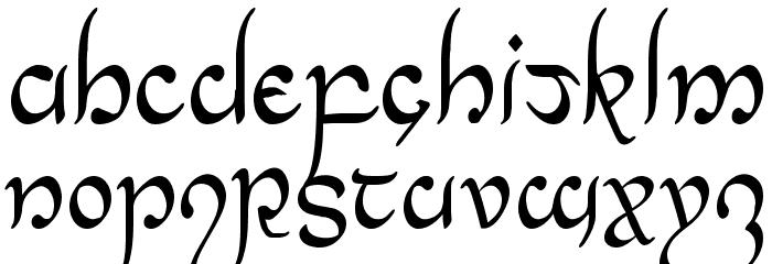 Half-Elven Condensed Font UPPERCASE