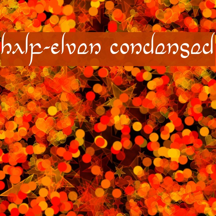 Half-Elven Condensed Font examples