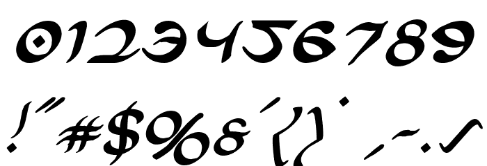 Half-Elven Italic Font OTHER CHARS