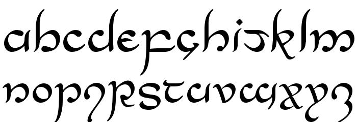 Half-Elven Regular Font UPPERCASE