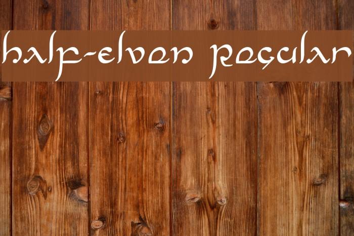 Half-Elven Regular Font examples
