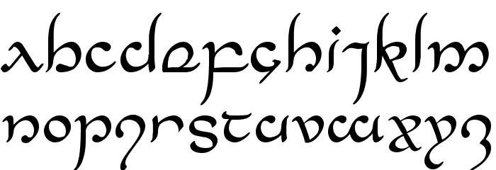 Half-Elven Regular Font LOWERCASE