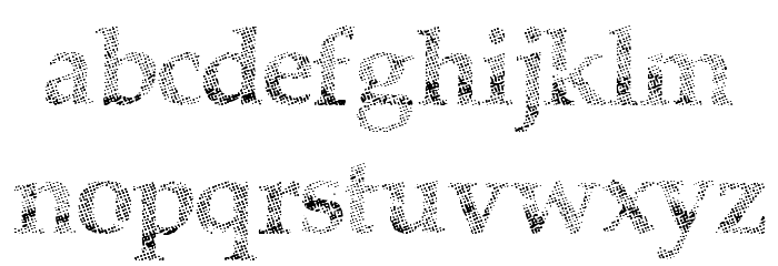 HalfFaded Font LOWERCASE