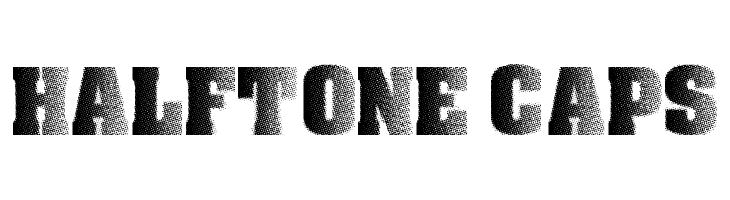 Halftone CAPS  नि: शुल्क फ़ॉन्ट्स डाउनलोड