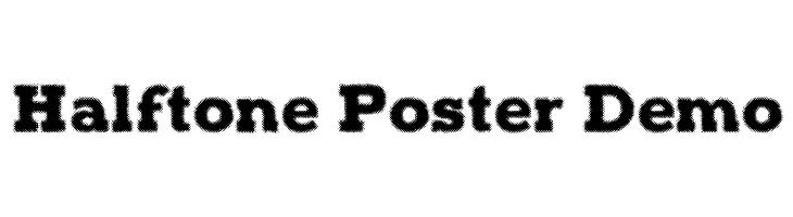 Halftone Poster Demo  Скачать бесплатные шрифты