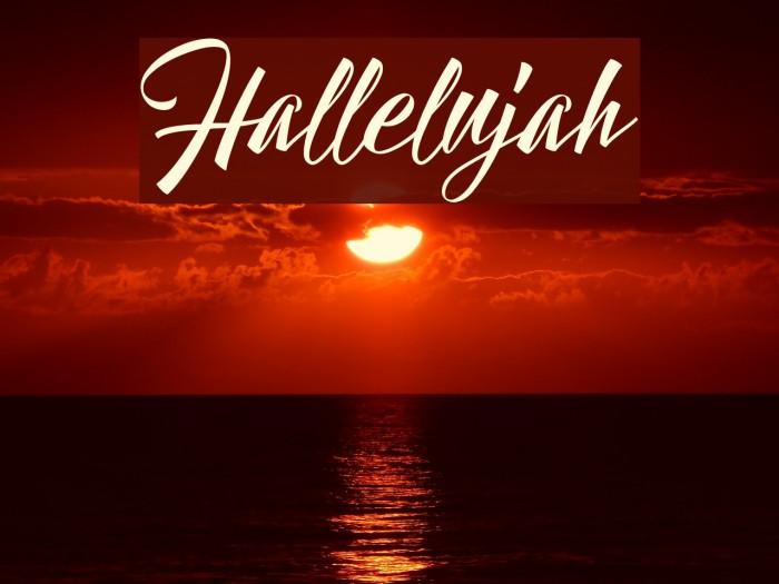 Hallelujah Font examples
