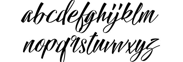 Hallelujah Font Litere mici