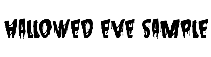 Hallowed Eve Sample  Free Fonts Download