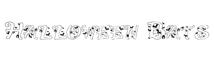 Halloween Bats  Free Fonts Download