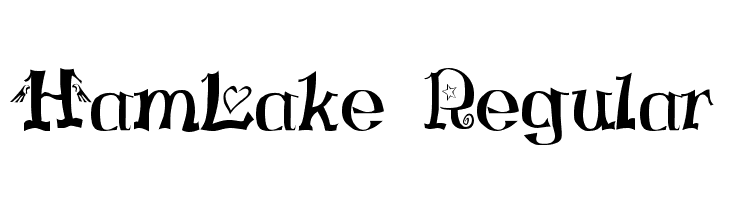 HamLake Regular  Free Fonts Download