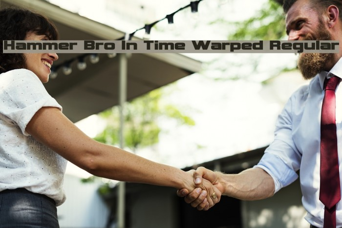 Hammer Bro In Time Warped Regular Fonte examples
