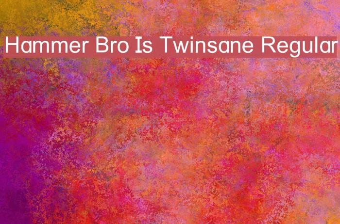 Hammer Bro Is Twinsane Regular Fonte examples