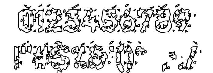 Hammeroid Hollow Font OTHER CHARS
