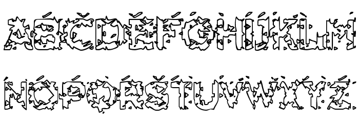 Hammeroid Hollow Font UPPERCASE