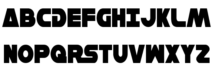 Han Solo Condensed Font UPPERCASE