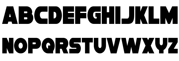 Han Solo Condensed Font LOWERCASE