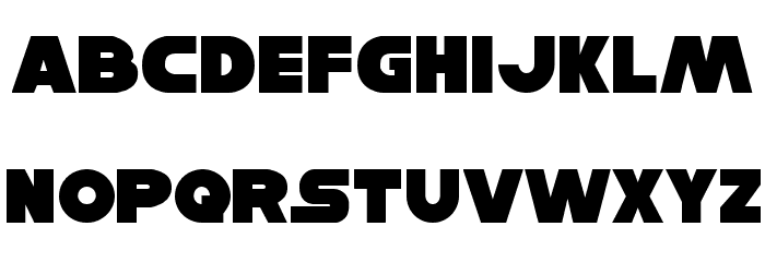 Han Solo Font LOWERCASE