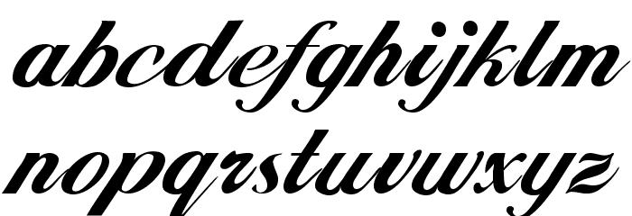 Hancock Font LOWERCASE