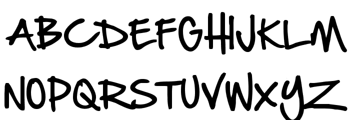 Hand Of Sean Font UPPERCASE