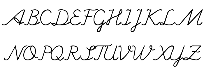 Hand writing Mutlu Font UPPERCASE