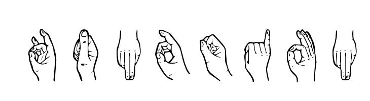 HandSign Font