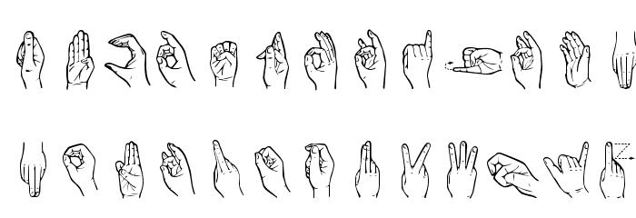 HandSign Font LOWERCASE
