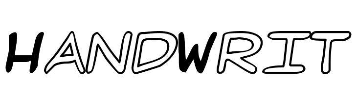 HandWrit  baixar fontes gratis