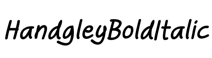 Handgley Bold Italic  Скачать бесплатные шрифты