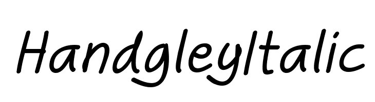Handgley Italic  Free Fonts Download