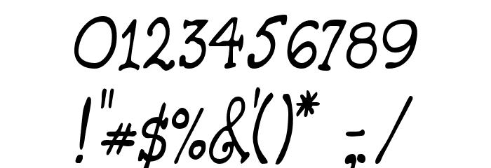 HandmadeTypewriter Font OTHER CHARS