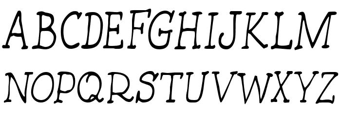 HandmadeTypewriter Font UPPERCASE
