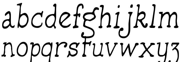 HandmadeTypewriter Font LOWERCASE