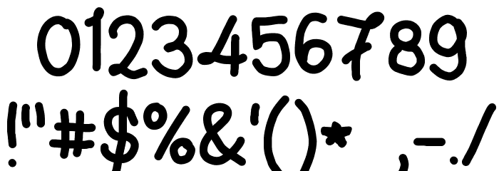 Handwriting 4 by CA Font OTHER CHARS