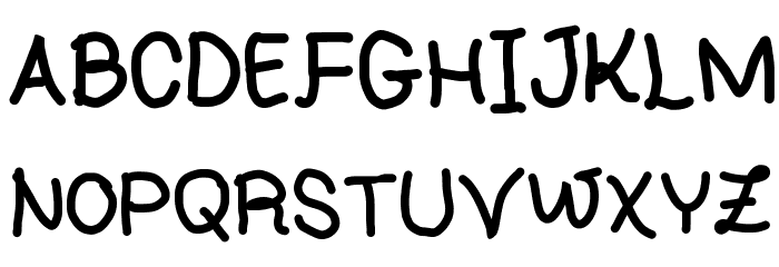 Handwriting 4 by CA Font UPPERCASE