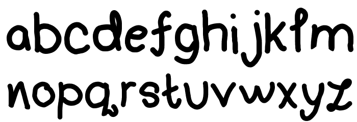 Handwriting 4 by CA Font LOWERCASE
